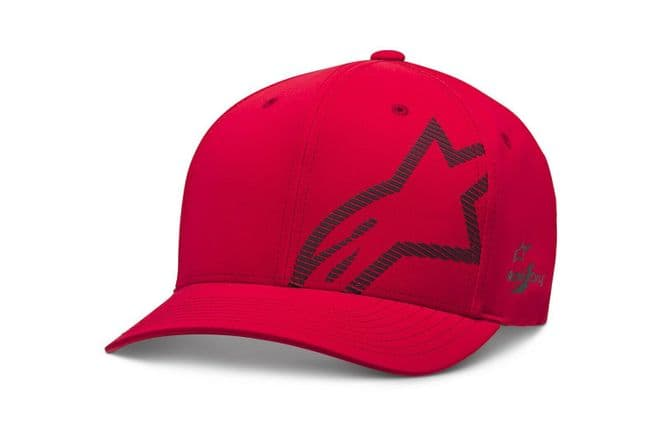 Alpinestars Corp Shift Wp Tech Flexfit Baseball Cap Hat Red & Black